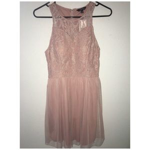 Blush Pink Homecoming Dress